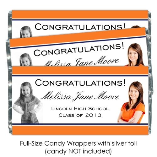 Photo Graduation Candy Wrappers 114-GRAD