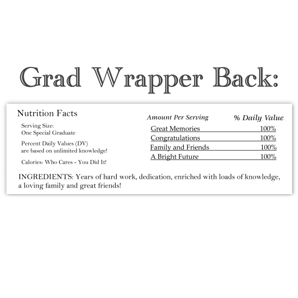 Graduation Candy Wrappers with Photo(s)