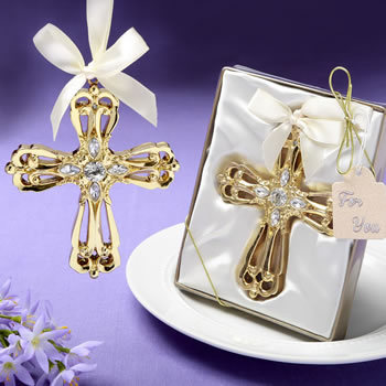 Majestic Gold Cross Ornament 253-BC