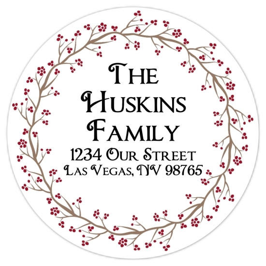 Christmas Floral Address Stickers 314-sticker