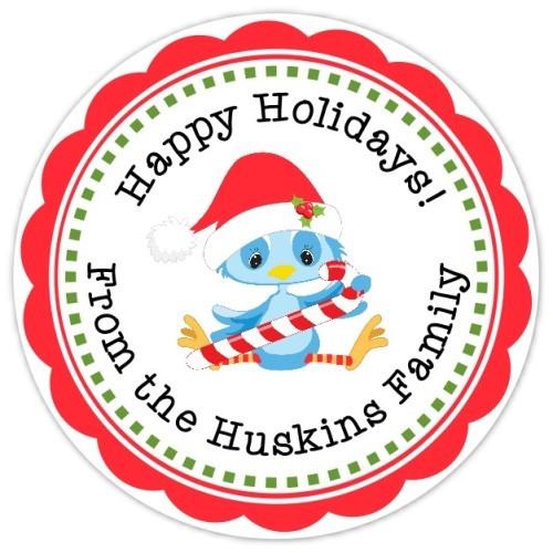 Cute Christmas Bird Stickers 319-sticker