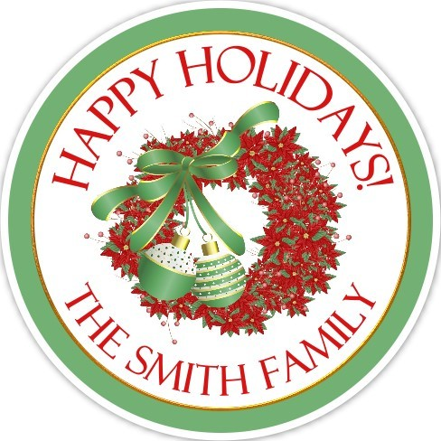 Lovely Christmas Wreath Stickers 318-sticker