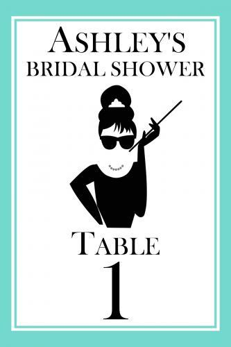 Breakfast At Tiffany's Table Numbers 148-SB