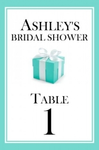 Tiffany Theme Table Numbers 149-SB