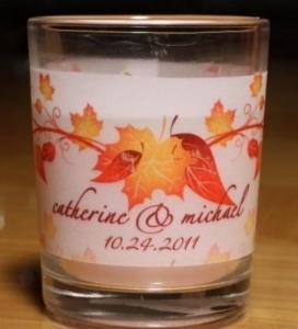 Fall Wedding Candle Vellum Wraps 115-AUTUMN