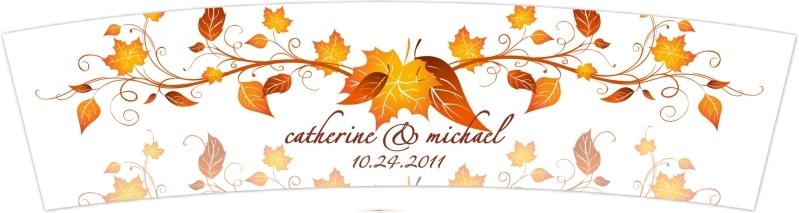 Fall Wedding Candle Vellum Wraps