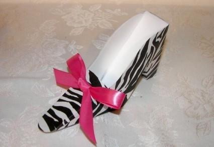 Zebra Shoe Favor Box 163-Z