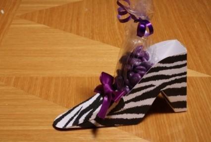Zebra Shoe Favor Box
