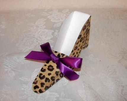 Leopard Shoe Favor Boxes 164-Z