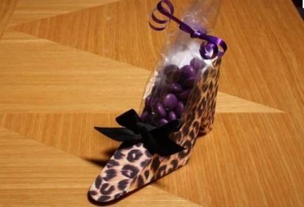 Leopard Shoe Favor Boxes