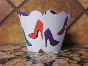 High Heel Cupcake Wrappers 140-SHOE