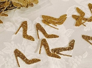 Glitter High Heel Shoe Confetti (100 pieces) 215-SHOE