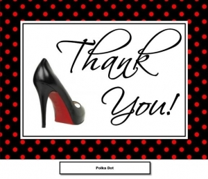 Shoe Thank You Cards with Envelopes - Flat or Folded 179-SHOE