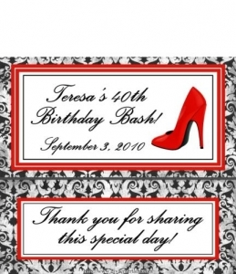 High Heel Chocolate Bar Wrappers