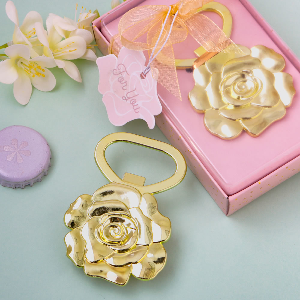 Champagne Gold Rose Bottle Opener 326-WINE