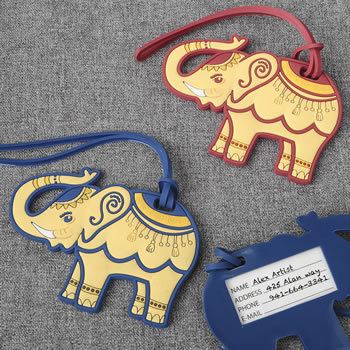 Elephant Luggage Tags - 2 Assorted 112LT-IF