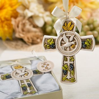 Holy Natures Harvest Themed Cross Ornament 255-BC