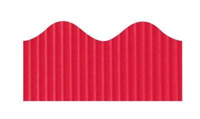 Bordette, Red, Pre-Scalloped border 2 1/4