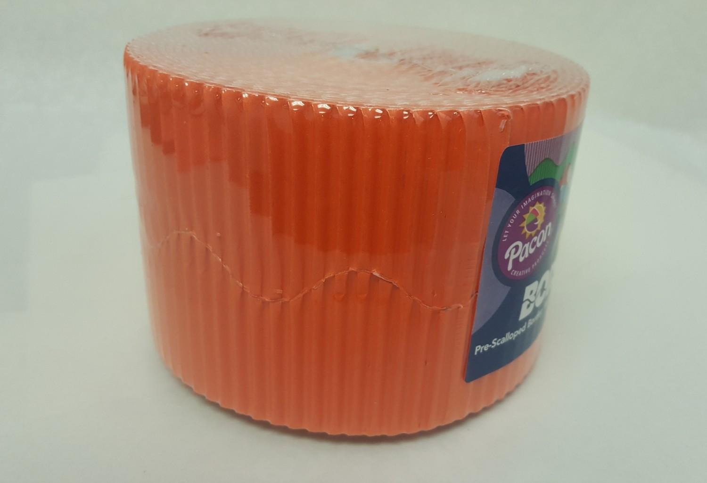 """Bordette, Orange, Pre-Scalloped border 2 1/4"""" x 50' rolls"""