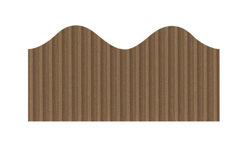 """Bordette, Brown, Pre-Scalloped border 2 1/4"""" x 50' rolls"""