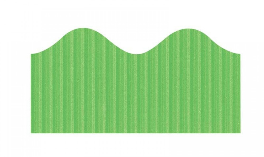 "Bordette, Nile Green, Pre-Scalloped border 2 1/4"" x 50' rolls"