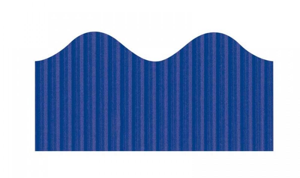 """Bordette, Dark Blue, Pre-Scalloped border 2 1/4"""" x 50' rolls"""
