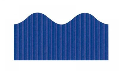 Bordette, Dark Blue, Pre-Scalloped border 2 1/4