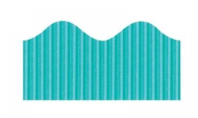 Bordette, Azure Blue, Pre-Scalloped border 2 1/4