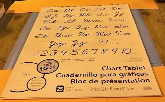 "Chart Tablet, 24""x32"", 1"" Ruled, 25 sheets/pad 12 PER BOX"