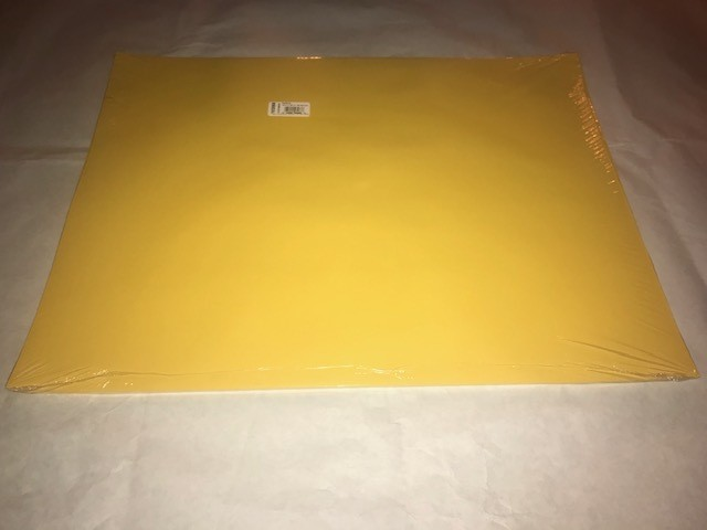 """Paper, Yellow, Construction, 18""""x24"""", 80#, 100% Vat Dyed Sulphite, 50sheets/package"""