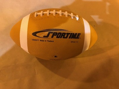 Football, rubber covered, better grade, playground/PE, Official size, synthetic laced