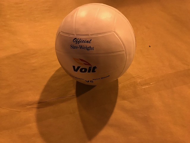 Volleyball, regulation, rubber covered