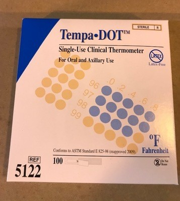 Thermometer, Single Use Sterile, Tempa DOT, 100/Box
