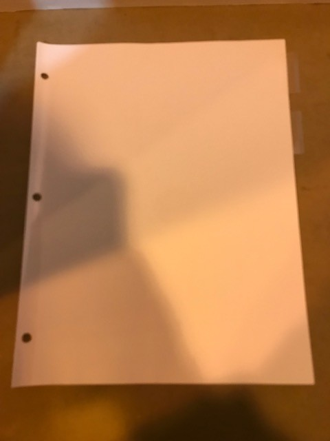 Divider Sheets, 5 tabs/set for 3-ring binder, Clear Tabs. 48 sets per box