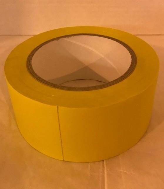 "Tape, yellow vinyl, 2"" x 36 yards, YV2R"