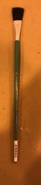 "Brushes, Flat, 3/4"", black bristle, easel brush"