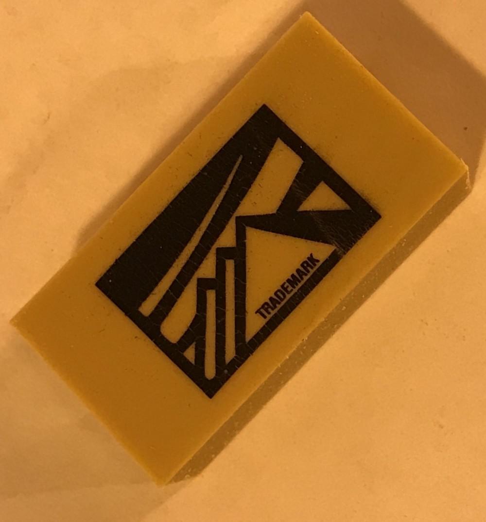 "Eraser, Art, Gum, Drawing (1""x2"") / Dozen 3/4' thick for drawing"