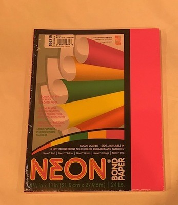 Paper, Neon Pink, 24#, 8 1/2