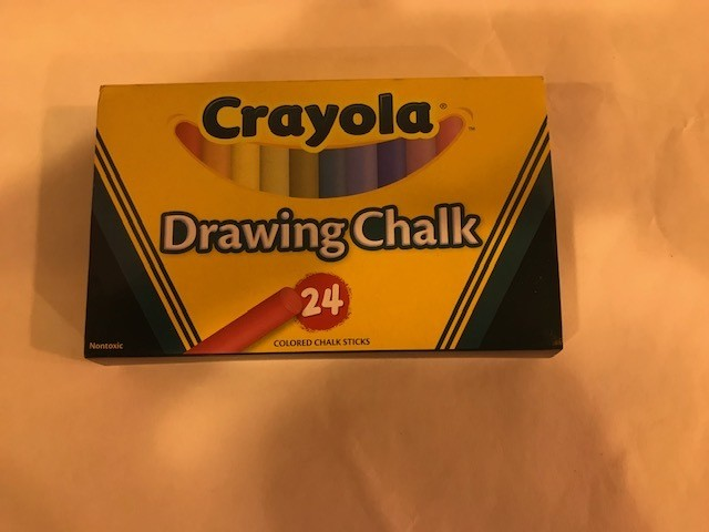 Chalk, Drawing, assorted colors, round, 24 colors/bx
