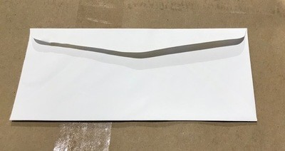 Envelope, #9, Plain White (500/BOX) 4 X 9