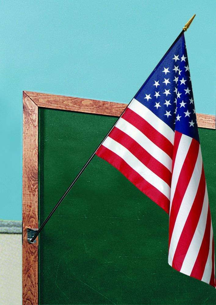"""Flag, US, 12"""" x 18"""" with staff, Indoor Flags Plus 127610"""