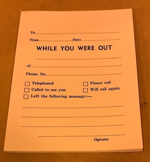 """Pad, Memo,""""WHILE YOU WERE OUT"""" 50 sheet/Pad"""