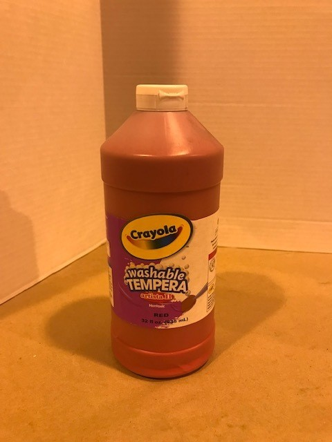 Paint, Tempera, Red, liquid, squeeze bottle