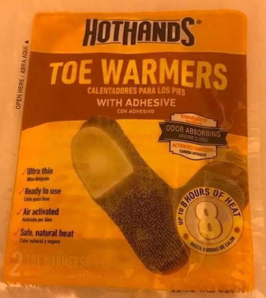 Warmer, toe, 2/Pack, Hot Hands #TT-1-100014 40/CS
