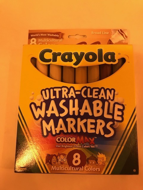 Markers, Washable, cone tip, packed 8 markers/bx