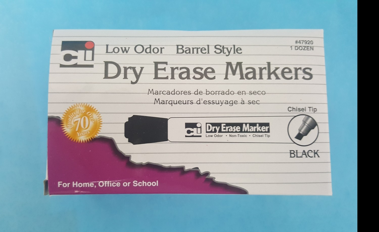 Black Markers, Dry Erasable for Dry White Board