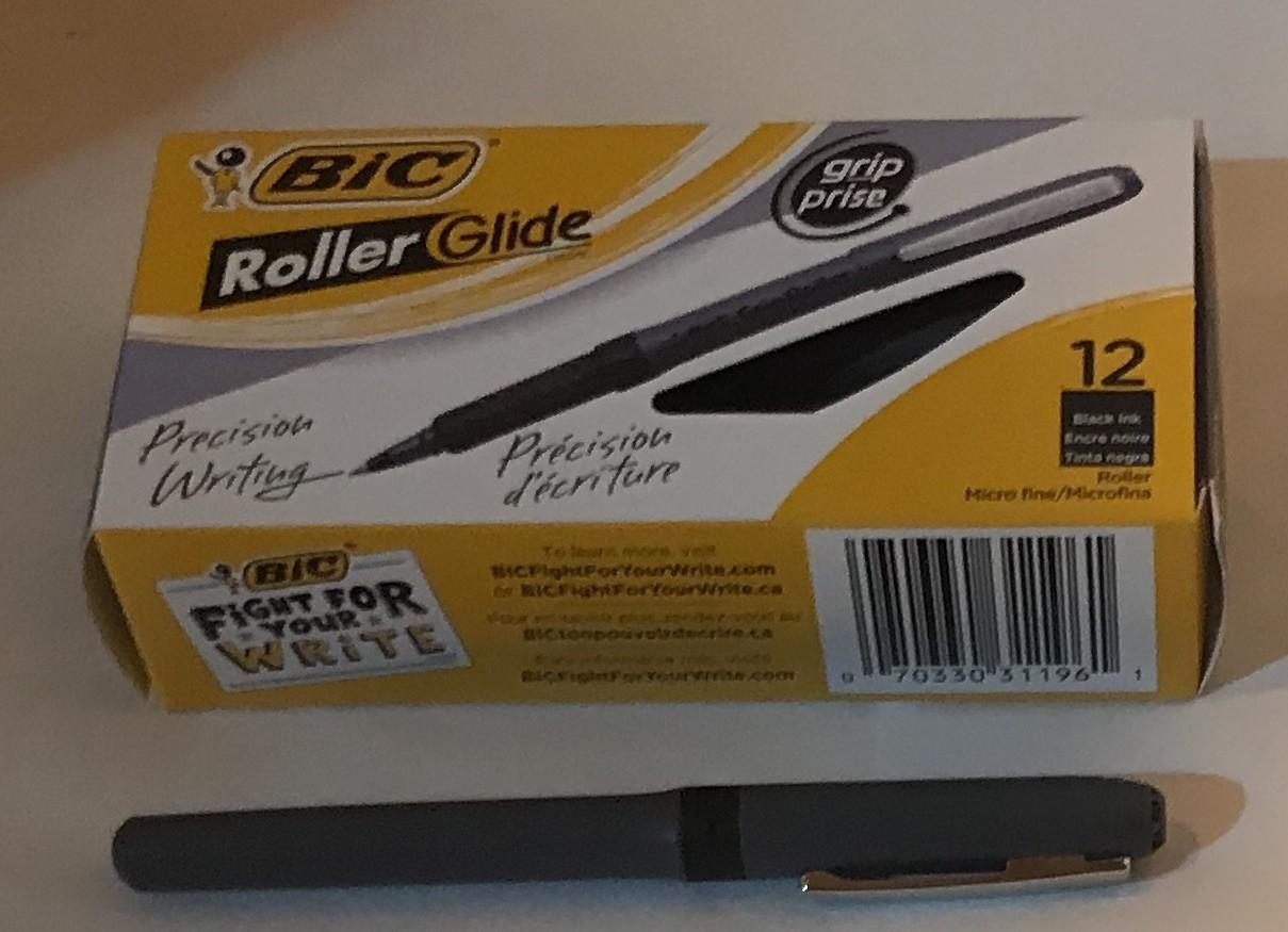 Pen, X-Fine, Black, Rollerball, .5MM Tip