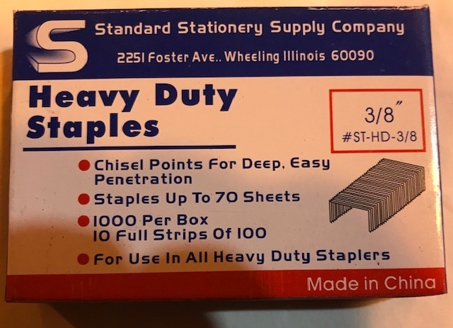"""STAPLES #13, 3/8"""" LONG 1000/BX (FOR USE WITH 0150129)"""