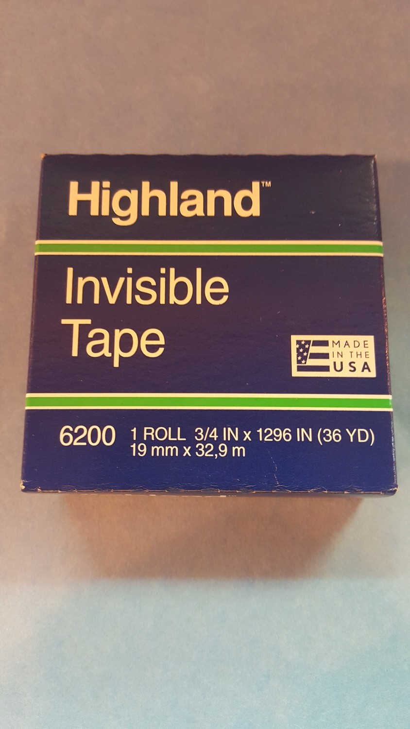 """Tape, Frosted, Mending, 3/4"""" wide x 1296""""/roll, 1"""" core"""
