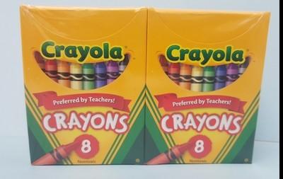 Crayons, 8 colors/bx, 12 bx/pkg. 24 each per case